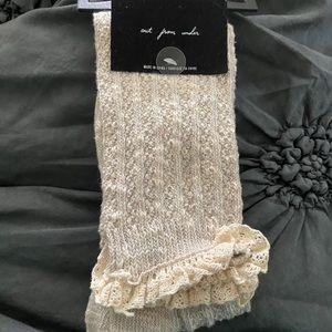 Knee high ruffled boot socks
